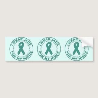 I Wear Jade For My Niece Bumper Sticker
