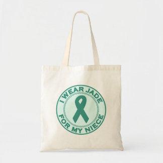 I Wear Jade For My Niece Tote Bag