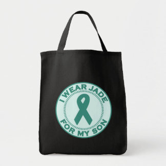 I Wear Jade For My Son Tote Bag