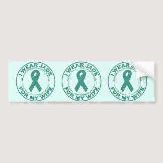 I Wear Jade For My Wife Bumper Sticker