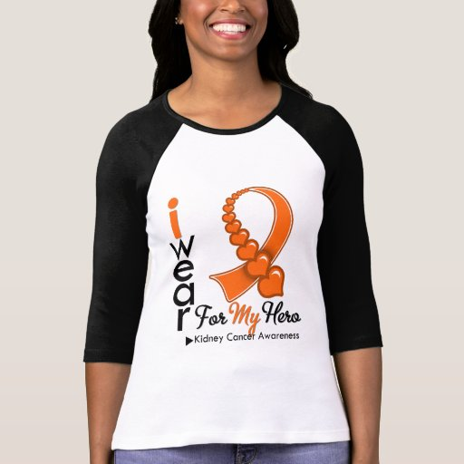 I Wear Kidney Cancer Ribbon For My Hero T-shirt