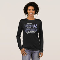 i wear lavender for GYNECOLOGIC cancer awareness Long Sleeve T-Shirt