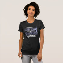 i wear lavender for GYNECOLOGIC cancer awareness T-Shirt