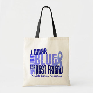I Wear Light Blue Best Friend 6.4 Prostate Cancer Tote Bag