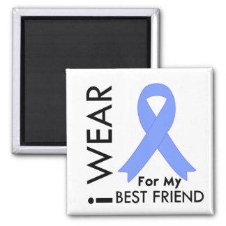 I Wear Light Blue (Best Friend) Prostate Cancer Fridge Magnets