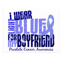 I Wear Light Blue Boyfriend 6.4 Prostate Cancer Postcard