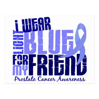 I Wear Light Blue For Friend 6.4 Prostate Cancer Postcard