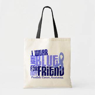 I Wear Light Blue For Friend 6.4 Prostate Cancer Tote Bag
