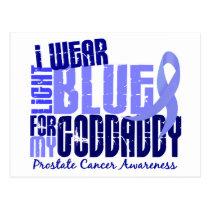 I Wear Light Blue For Goddaddy 6.4 Prostate Cancer Postcard