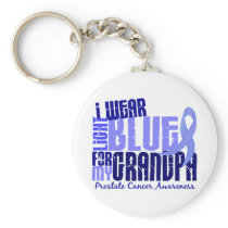 I Wear Light Blue For Grandpa 6.4 Prostate Cancer Keychain