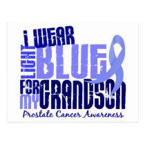 I Wear Light Blue For Grandson 6.4 Prostate Cancer Postcard