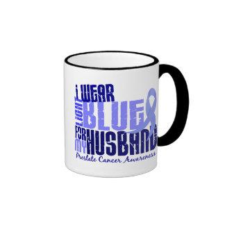 I Wear Light Blue For Husband 6.4 Prostate Cancer Ringer Mug