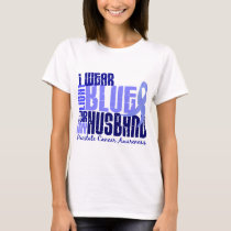 I Wear Light Blue For Husband 6.4 Prostate Cancer T-Shirt