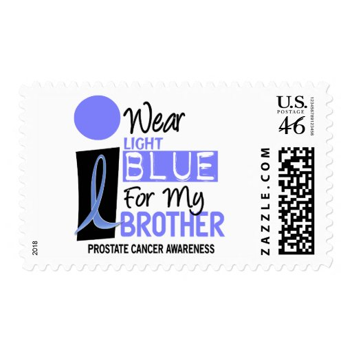 I Wear Light Blue For My Brother 9 PC Stamps