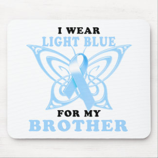 I Wear Light Blue for my Brother Mouse Pad