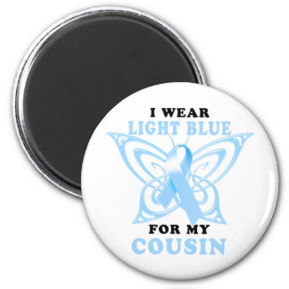 I Wear Light Blue for my Cousin 2 Inch Round Magnet