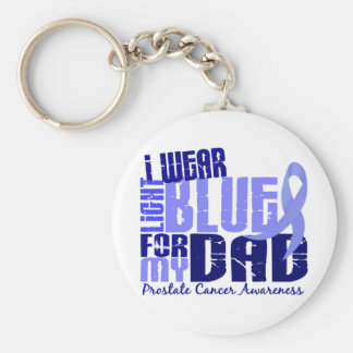 I Wear Light Blue For My Dad 6.4 Prostate Cancer Keychain