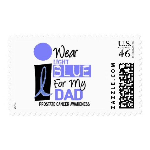 I Wear Light Blue For My Dad 9 PC Postage Stamp