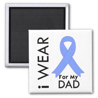 I Wear Light Blue For My Dad - Prostate Cancer Magnet