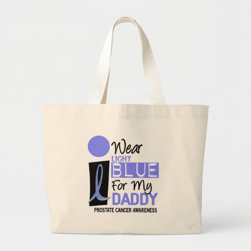 I Wear Light Blue For My Daddy 9 PC Canvas Bags