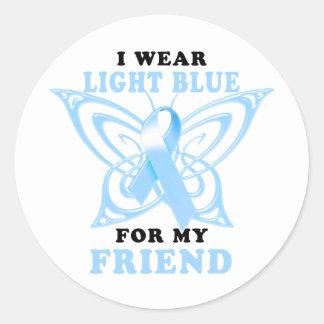 I Wear Light Blue for my Friend Classic Round Sticker