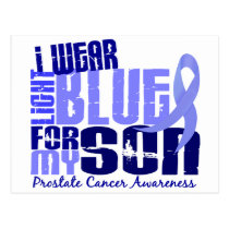 I Wear Light Blue For My Son 6.4 Prostate Cancer Postcard