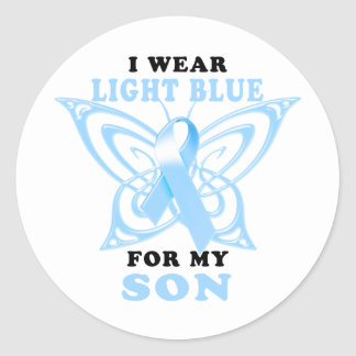 I Wear Light Blue for my Son Classic Round Sticker