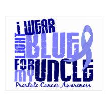I Wear Light Blue For My Uncle 6.4 Prostate Cancer Postcard