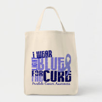I Wear Light Blue For The Cure 6.4 Prostate Cancer Tote Bag