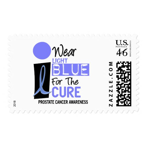 I Wear Light Blue For The Cure 9 PC Postage Stamps