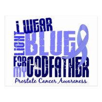 I Wear Light Blue Godfather 6.4 Prostate Cancer Postcard