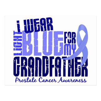 I Wear Light Blue Grandfather 6.4 Prostate Cancer Postcard