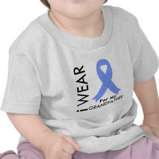 I Wear Light Blue (Grandfather)  Prostate Cancer T-shirt