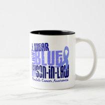 I Wear Light Blue Son-In-Law 6.4 Prostate Cancer Two-Tone Coffee Mug