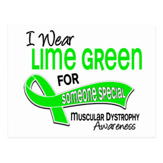 I Wear Lime 42 Someone Special Muscular Dystrophy Postcard