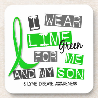 I Wear Lime Green 37 Me and My Son Lyme Disease Drink Coaster