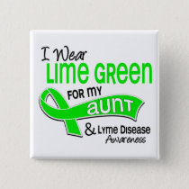 I Wear Lime Green 42 Aunt Lyme Disease Pinback Button