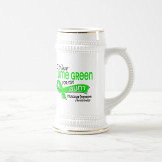 I Wear Lime Green 42 Aunt Muscular Dystrophy 18 Oz Beer Stein