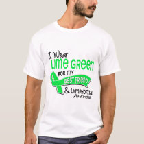 I Wear Lime Green 42 Best Friend Lymphoma T-Shirt