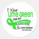 I Wear Lime Green 42 Boyfriend Lyme Disease Stickers
