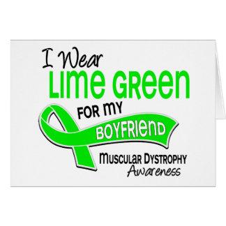 I Wear Lime Green 42 Boyfriend Muscular Dystrophy Card