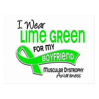 I Wear Lime Green 42 Boyfriend Muscular Dystrophy Postcard