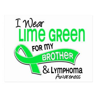 I Wear Lime Green 42 Brother Lymphoma Postcard