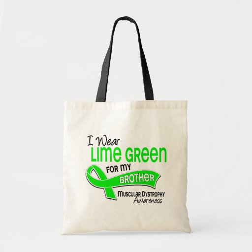 I Wear Lime Green 42 Brother Muscular Dystrophy Budget Tote Bag