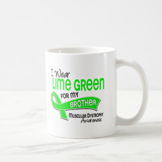 I Wear Lime Green 42 Brother Muscular Dystrophy Mugs