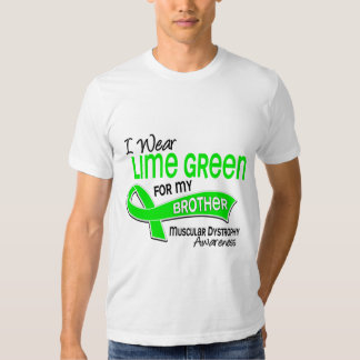I Wear Lime Green 42 Brother Muscular Dystrophy Shirts