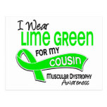 I Wear Lime Green 42 Cousin Muscular Dystrophy Post Card
