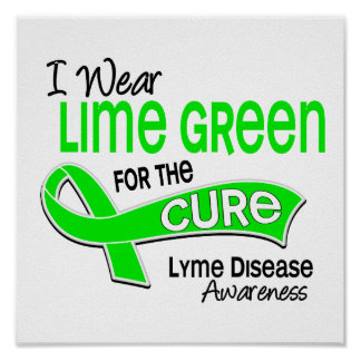 I Wear Lime Green 42 Cure Lyme Disease Poster