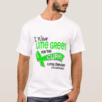 I Wear Lime Green 42 Cure Lyme Disease T-Shirt