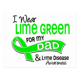 I Wear Lime Green 42 Dad Lyme Disease Postcard
